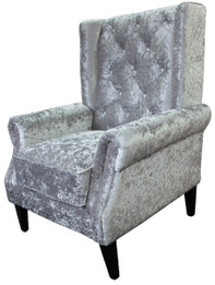 Bling Wingback Chair -Silver (bf)
