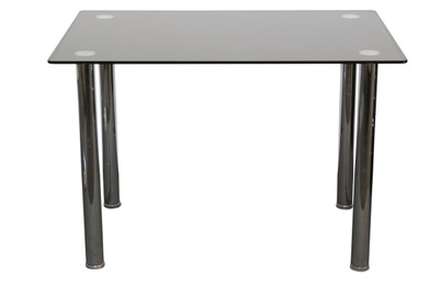 Galio Dining Table 1.3m Long Black Glass (bf)