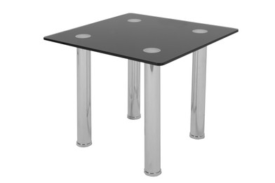 Galio Lamp Table -Black Glass (bf)