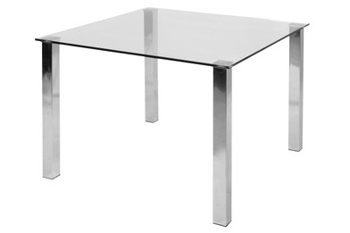 Kiama Dining Table 1m Square -Clear (bf)