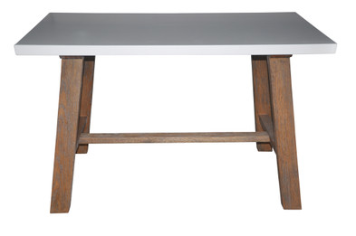 Copacabana Square Lamp Table -White Top (bf)