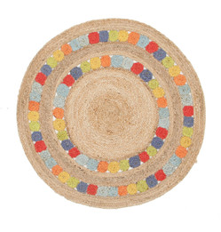 Little Miss Daisy Jute Rug (ux)