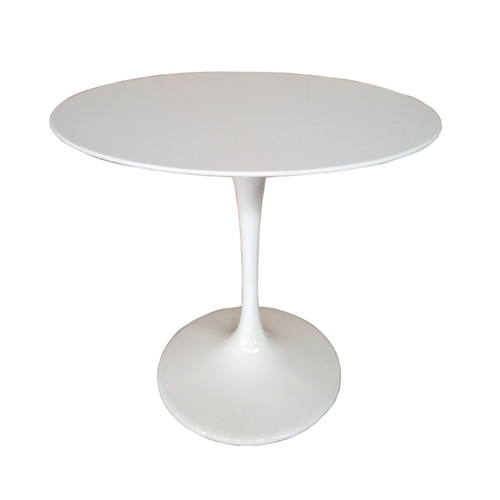 Replica Tulip Table - White Fiberglass - 100cm
