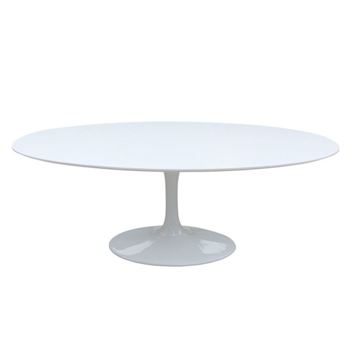 Replica Tulip Table - White Fibreglass - Oval 200cm