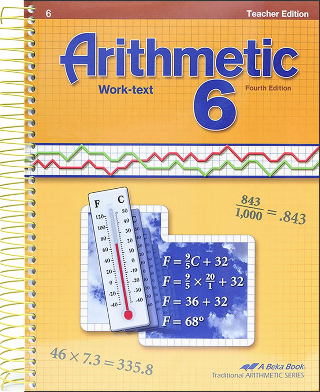Arithmetic 6, 4th edition - Teacher Edition