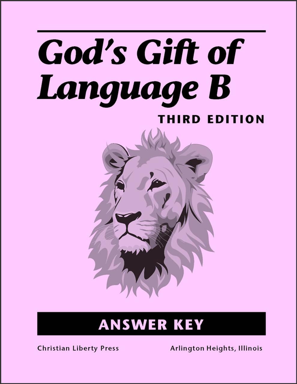 God's Gift of Language B, 3rd edition - Answer Key