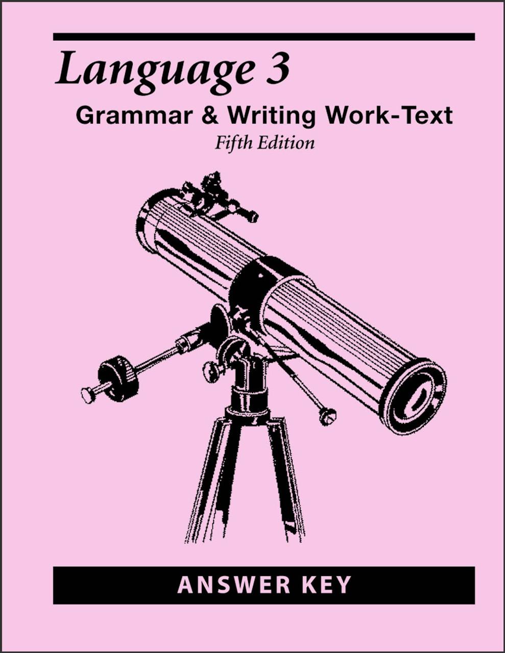 Language 3, 5th edition - Answer Key