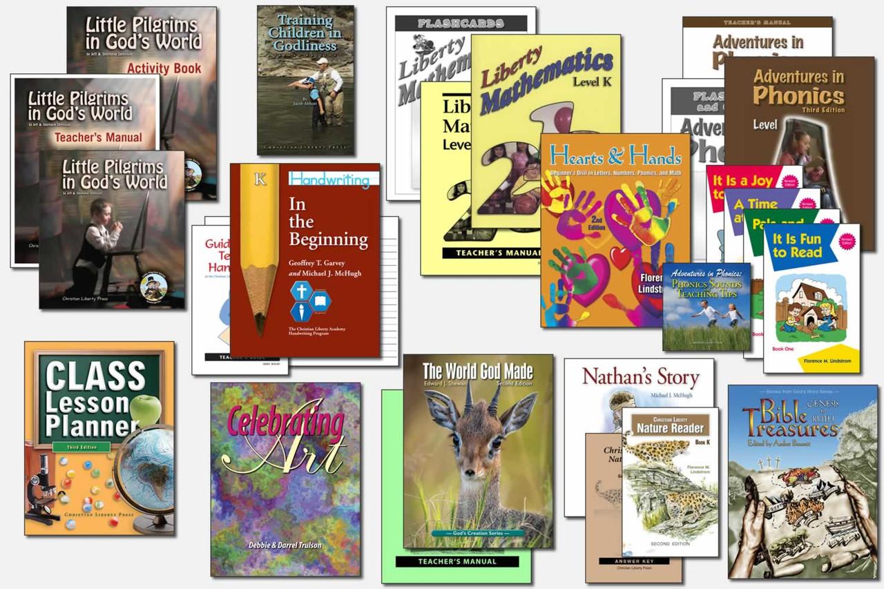 Sample Kindergarten Curriculum (actual books may vary)