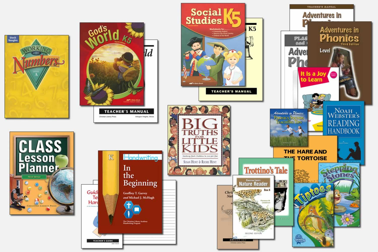 Sample Advanced Kindergarten Curriculum (actual books may vary)