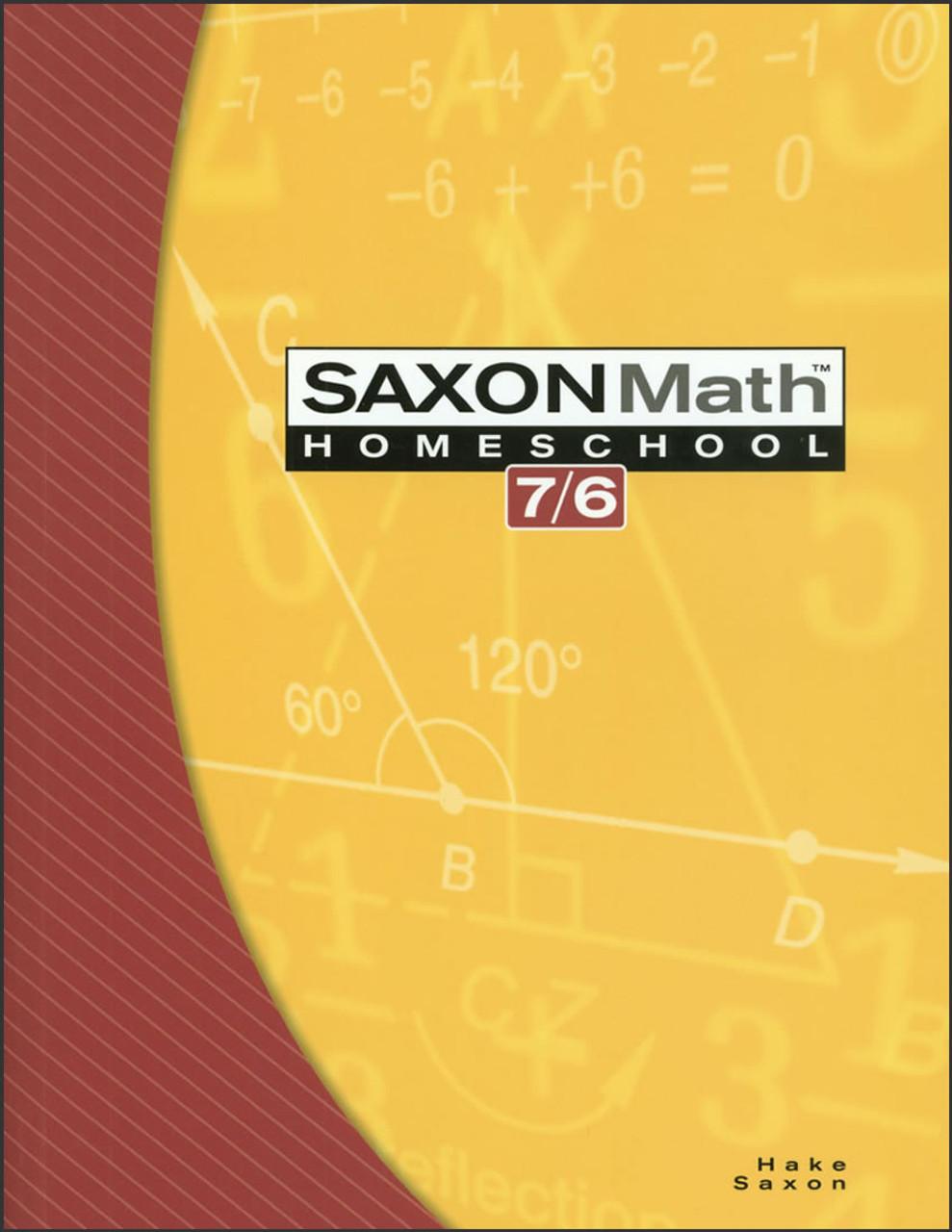 SaxonMath Homeschool 7/6, 4th edition