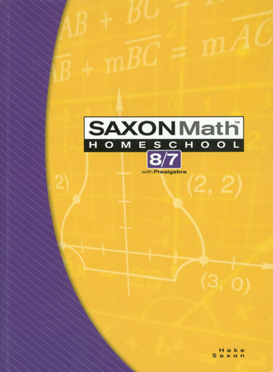 Saxon Math Homeschool 8/7, 3rd edition -  Kit