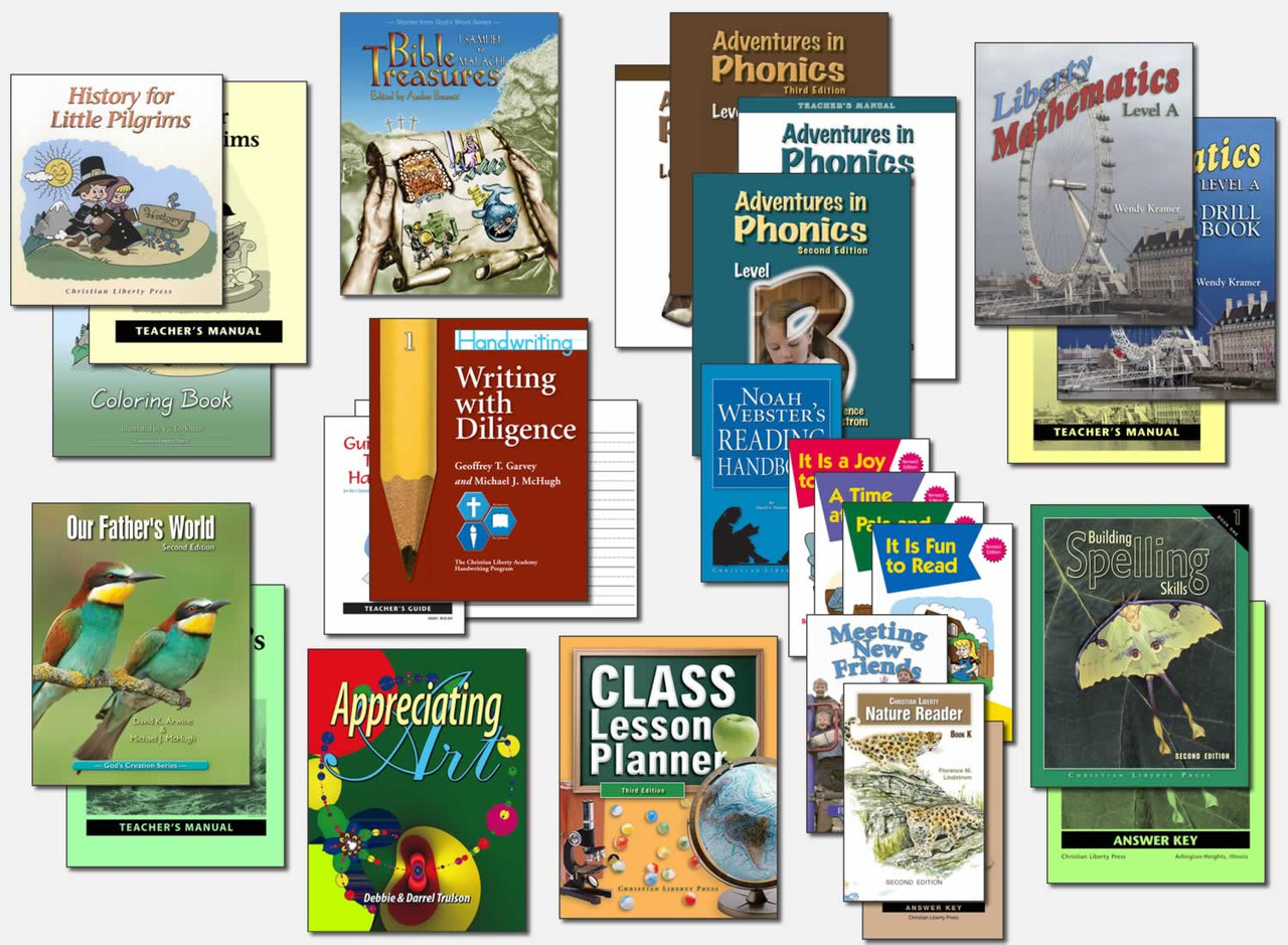 Sample Modified First Grade Curriculum (actual books may vary; test packets not shown)