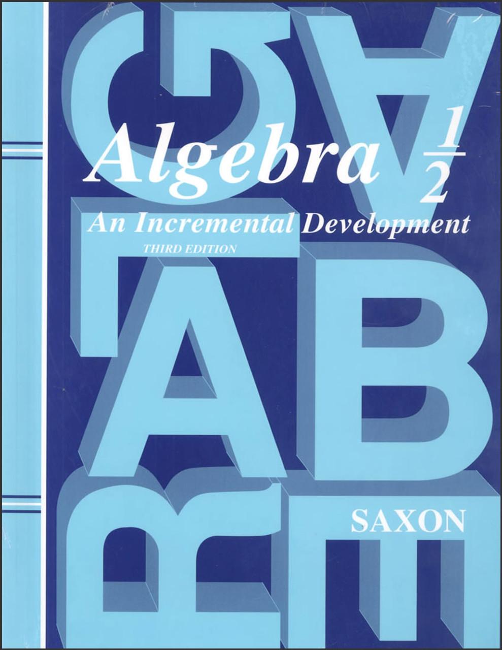 Saxon Algebra 1/2, 3rd edition