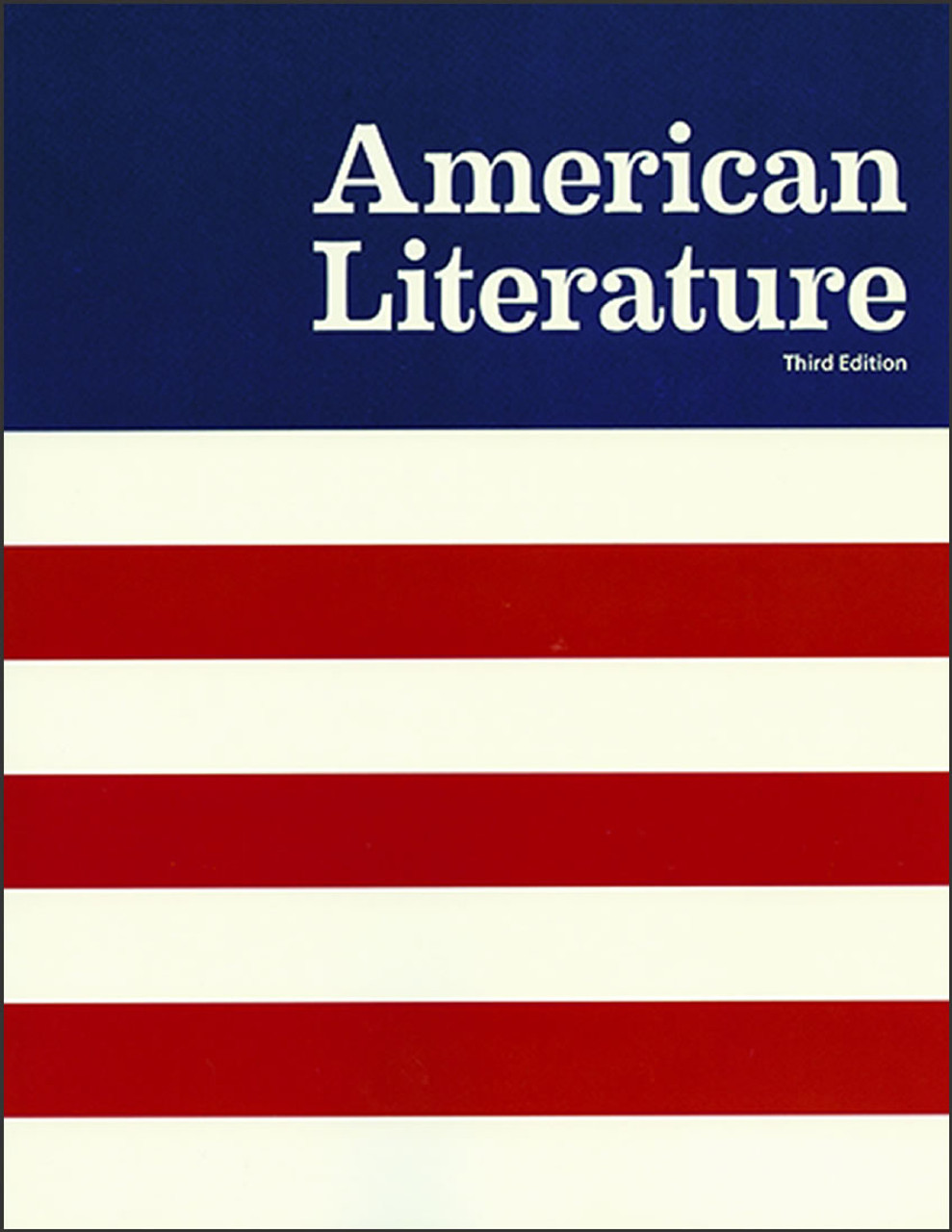 American Literature, 3rd edition (first half)
