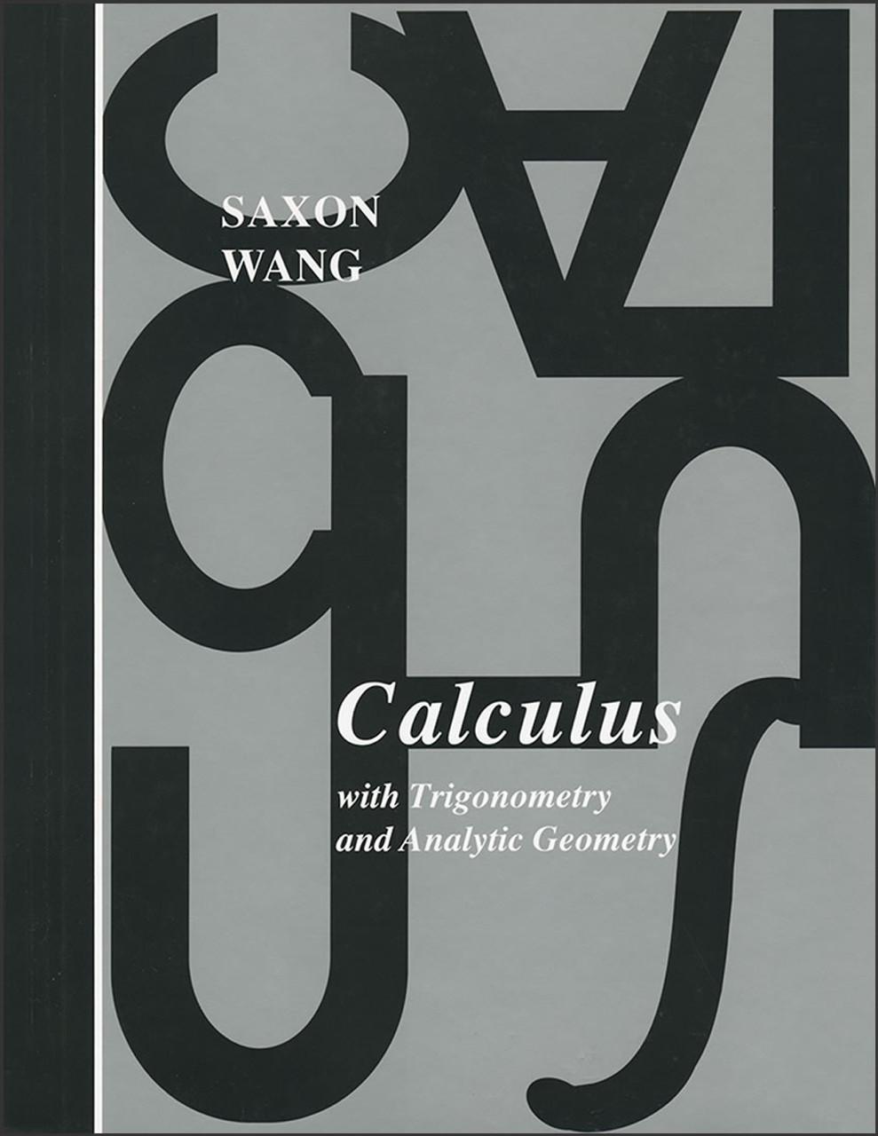 Saxon Calculus, 1st edition