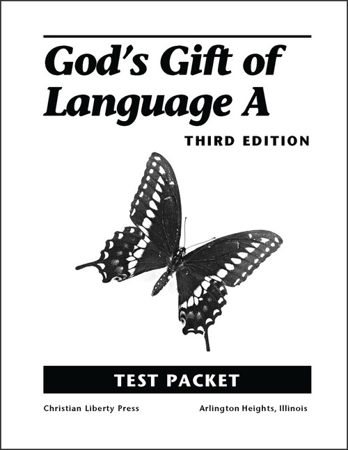God's Gift of Language A, 3rd edition - Test Packet