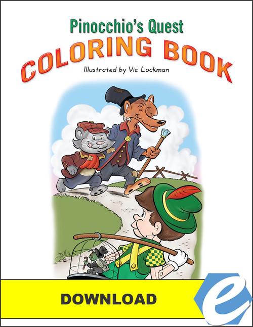Pinocchio's Quest - Coloring Book - PDF Download