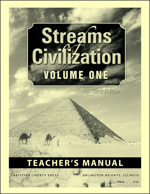 Streams of Civilization Volume One, 3rd edition - Teacher's Manual