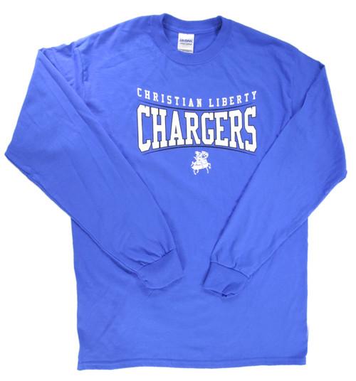 Blue Adult Long Sleeve T-shirt
