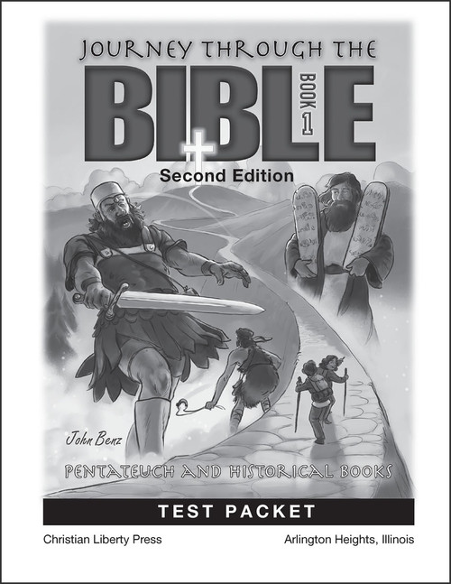 Journey Through the Bible: Book 1 - Pentateuch and Historical Books, 2nd edition - Test Packet