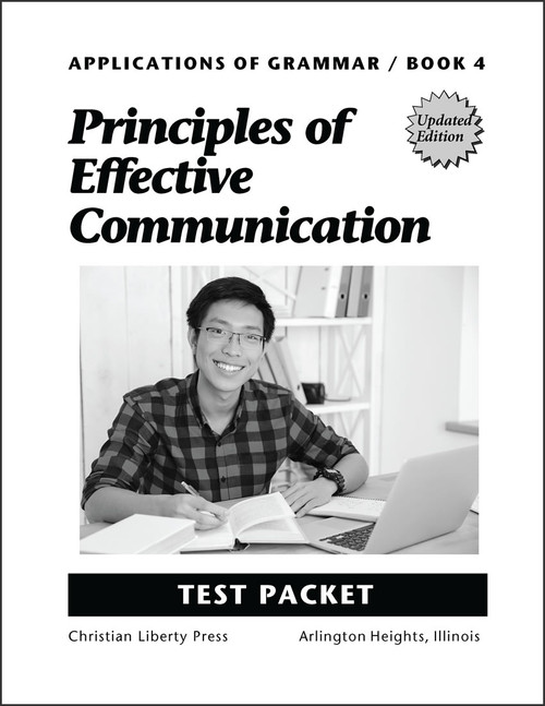 Applications of Grammar Book 4: Principles of Effective Communication, updated edition - Test Packet