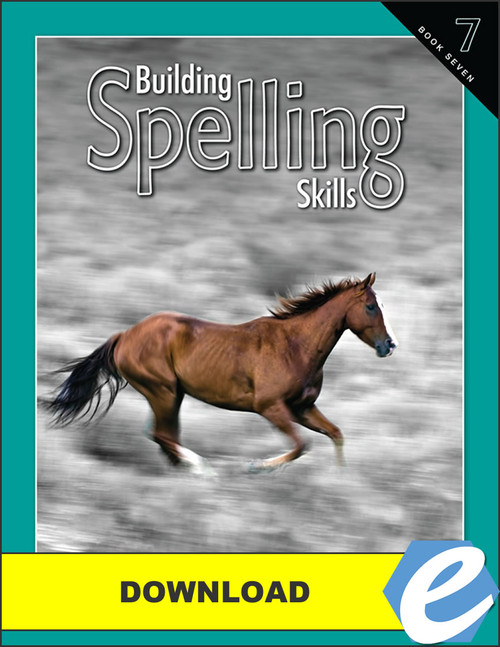 Building Spelling Skills: Book 7, 2nd edition - PDF Download