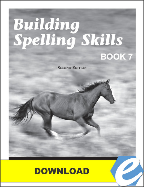 Building Spelling Skills: Book 7, 2nd edition - Answer Key - PDF Download