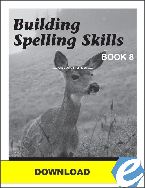 Building Spelling Skills: Book 8, 2nd edition - Answer Key - PDF Download
