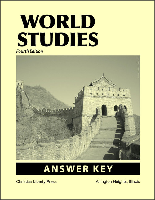 World Studies, 4th edition - Answer Key