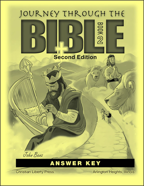 Journey Through the Bible: Book 2 - Wisdom and Prophetic Books, 2nd edition - Answer Key