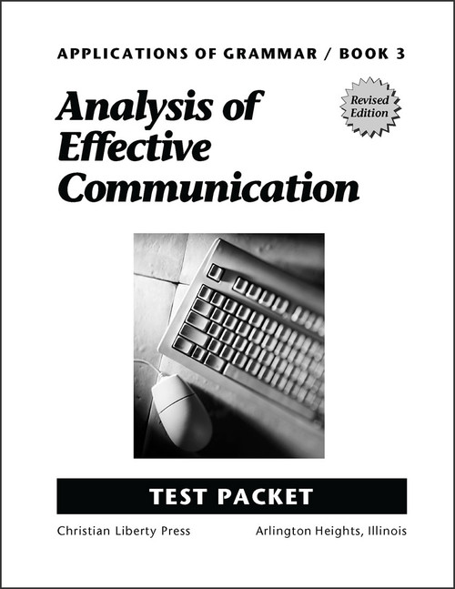 Applications of Grammar Book 3: Analysis of Effective Communication - Test Packet