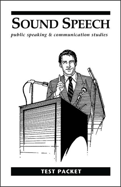 Sound Speech: Public Speaking & Communication Studies - Test Packet