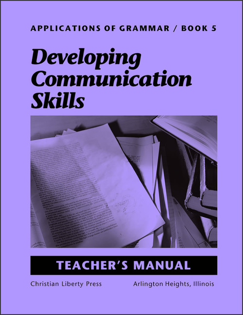 Applications of Grammar Book 5: Developing Communication Skills - Teacher's Manual