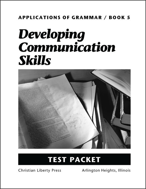 Applications of Grammar Book 5: Developing Communication Skills - Test Packet