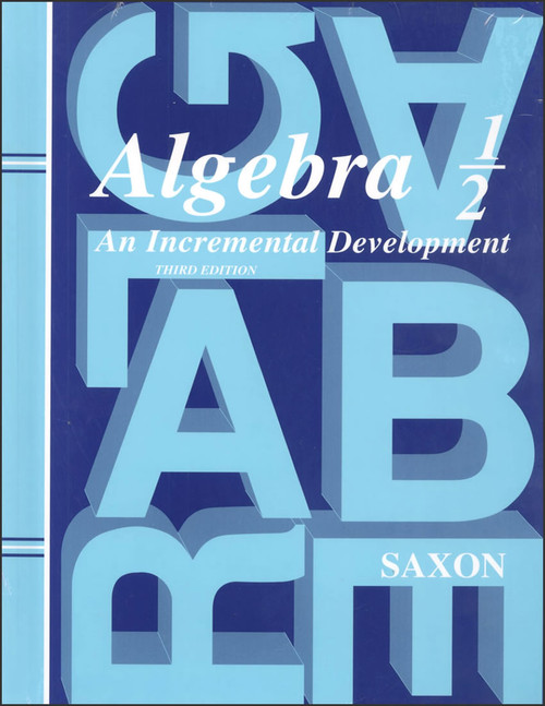 Saxon Algebra 1/2, 3rd edition - Home Study Kit