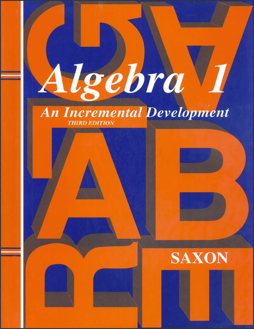 Saxon Algebra 1, 3rd edition - Home Study Kit