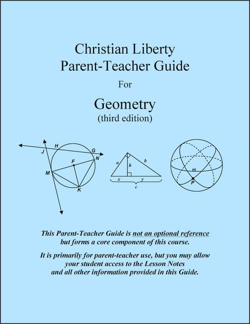 Geometry, 3rd edition - Parent-Teacher Guide