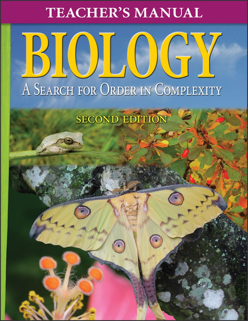 Biology: A Search for Order in Complexity, 2nd edition - Teacher's Manual