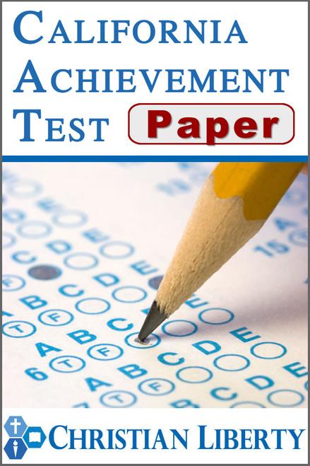 California Achievement Test - Paper version