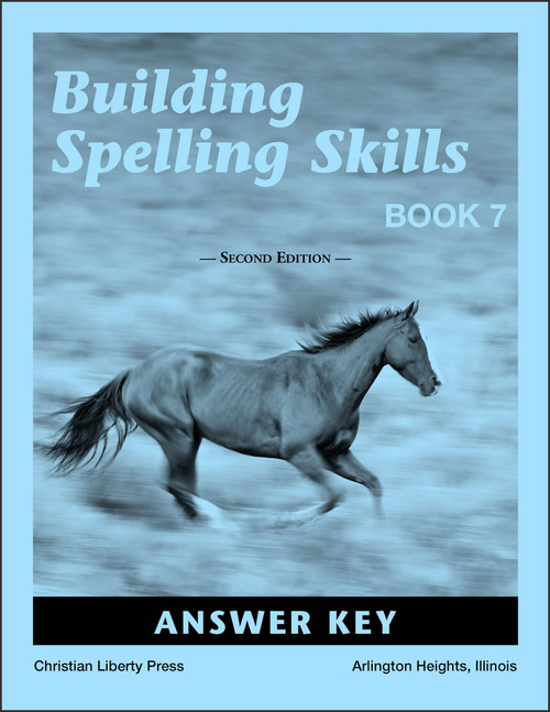 Building Spelling Skills: Book 7, 2nd edition - Answer Key