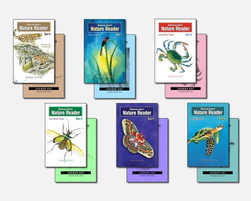 Complete Nature Reader set shown with answer keys.