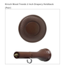 """Kirsch Wood Trends 3 3/4"""" Holdback Medallions - with post arm for 3"""" or 5"""" clearance - Sold in Pairs"""