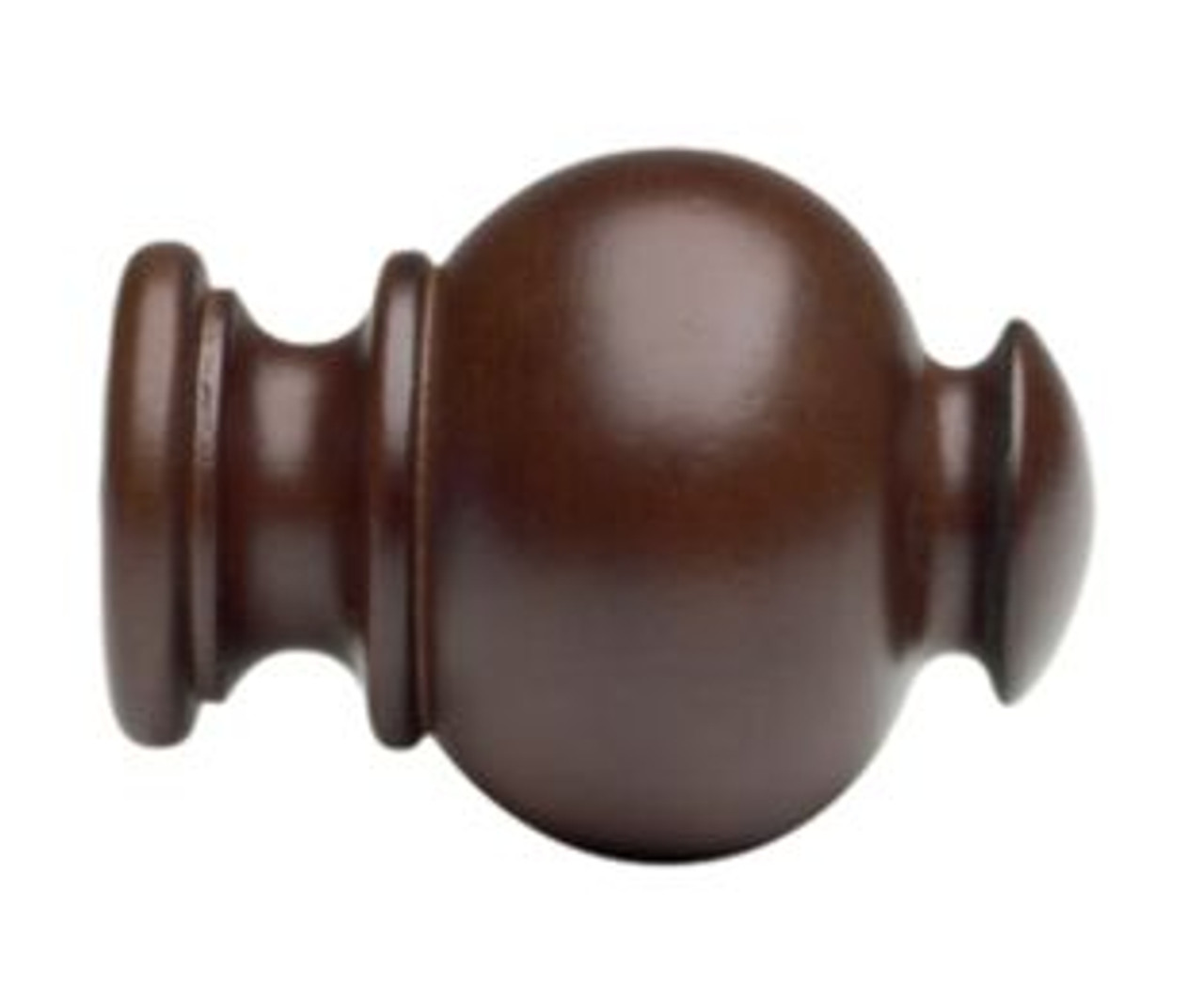 """Kirsch Button Ball Finial Wood Trends  Pair for use with 2"""" diameter wood poles"""