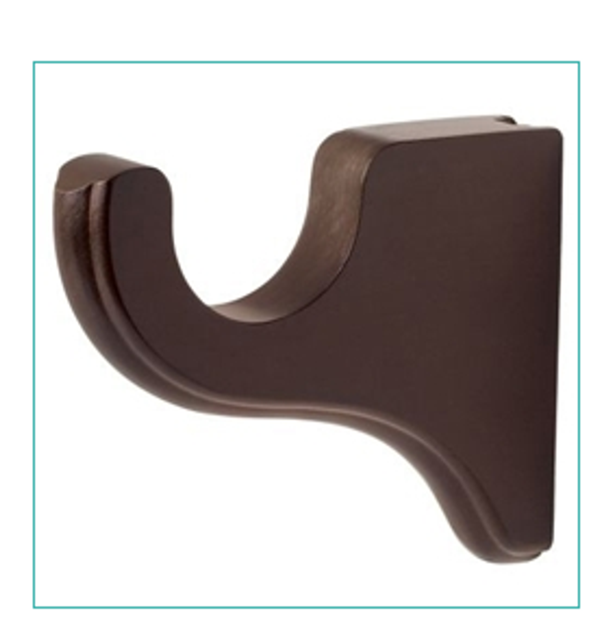 """Kirsch #5611EG Wood Trends 3 1/2"""" Return Bracket For 1 3/8"""" Diameter Drapery Rods -  Sold Individually - Available in a variety of colors & finishes"""