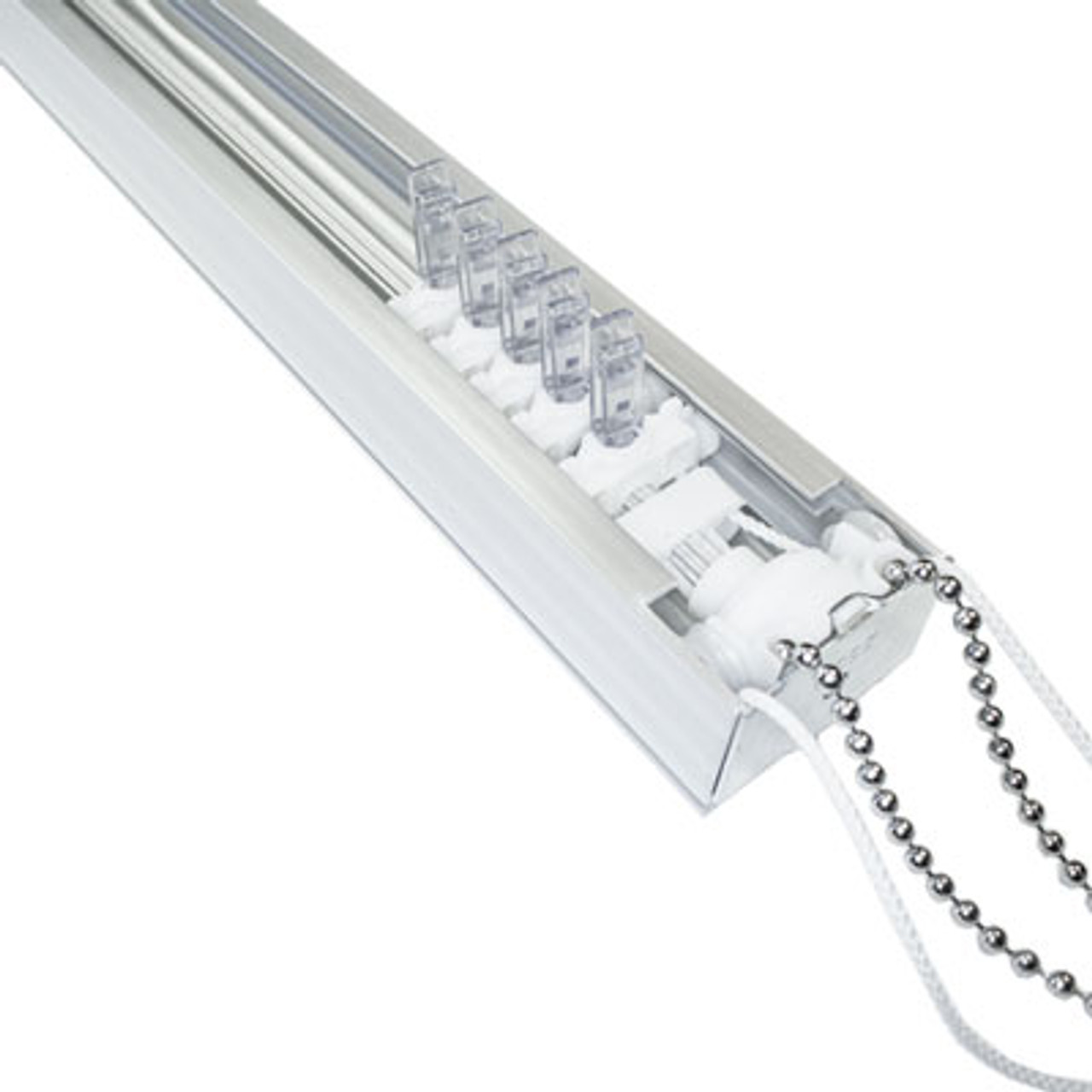 Vertical Blind Replacement Track - 8 Prong - 8 ft to 12 Ft. Wide - Complete & Ready for Install
