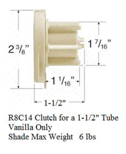RollEase R-Series Clutch R8C14 for 1-1/2 Inch Tube