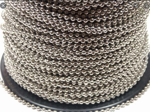 RollEase RBC45 #10 Metal Chain 500 Ft. Spool - Available in Antique Brown, Nickel, Mystic Red, Yellow Brass and Stainless Steel