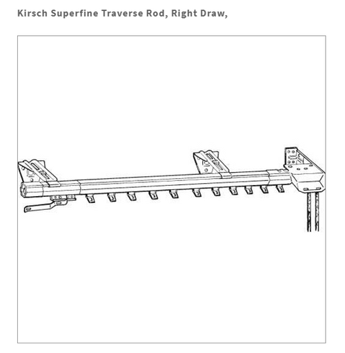 mpn# 3267025 Kirsch Superfine Two Way Draw And Plain Rod 86-150