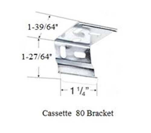 RollEase Cassette 80 Mounting Bracket- White - VRBKT15W - Each