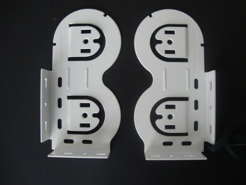 Rollease Double Horizontal Skyline Bracket Set - Available in 2 colors